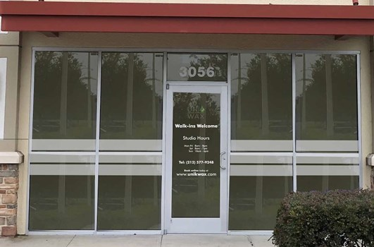 Frosted Window Graphics as Privacy Bars