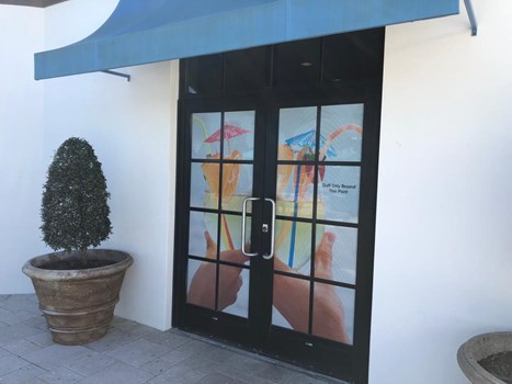 Translucent Window Graphics Installed at a Hotel in Orlando - FL